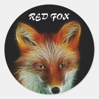 Red Fox Round Sticker
