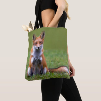 Red Fox Sitting Tote Bag