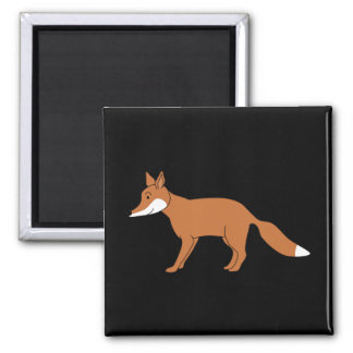 Red Fox. Square Magnet