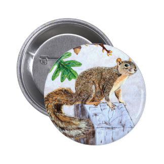 Red Fox Squirrel Buttons
