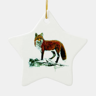 Red Fox star ornament