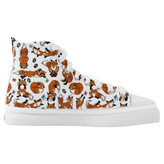 Red Fox Tennis Shoes Printed Shoes