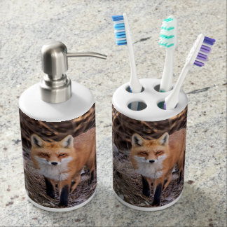 Red Fox up close and personal Bathroom Set