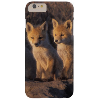 red fox, Vulpes vulpes, kits outside their Barely There iPhone 6 Plus Case