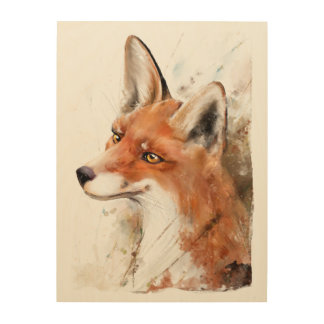 Red Fox Wall Art Forest animal