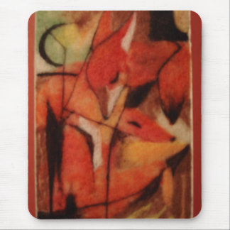 Red Foxes Mouse Pad