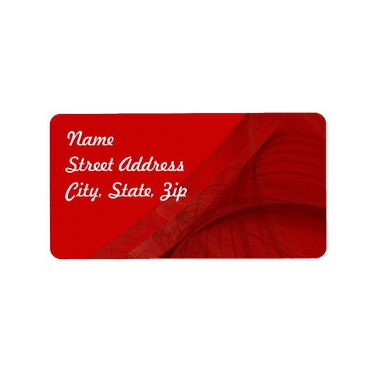 Red Fractal Background Address Sticker