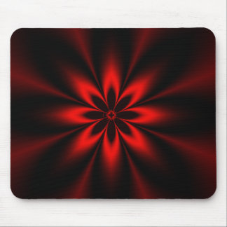 Red Fractal Burst - Customized Mouse Pad