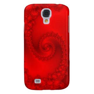 Red Fractal Spiral Galaxy S4 Case