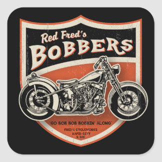 Red Fred's Bobbers Square Sticker