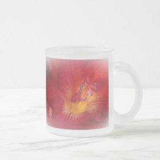 Red Freesia Blossom Coffee Mugs