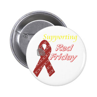 Red Friday 6 Cm Round Badge