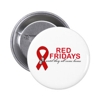 Red Fridays- Until They All Come Home 6 Cm Round Badge