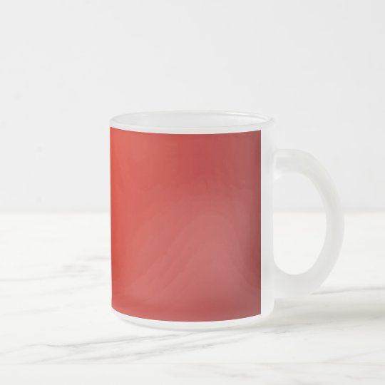 Red Frosted Glass Coffee Mug
