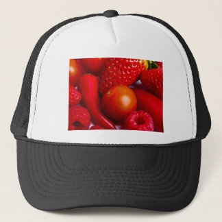 Red Fruit and Vegetables Hat/Cap Trucker Hat