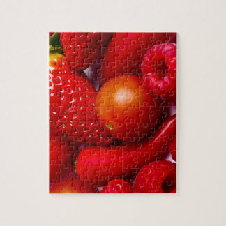 Red Fruit and Vegetables Puzzle/Jigsaw with Tin Jigsaw Puzzle