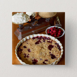 Red fruit crumble For use in USA only.) 15 Cm Square Badge