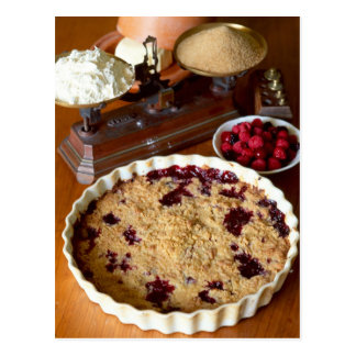 Red fruit crumble For use in USA only.) Postcard
