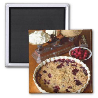 Red fruit crumble For use in USA only.) Square Magnet