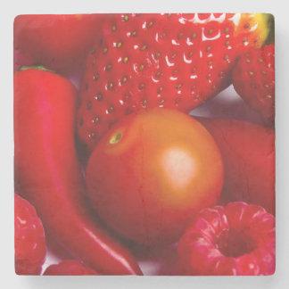 Red Fruit/Vegetables Stone Coaster