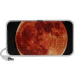 Red Full Moon Notebook Speaker