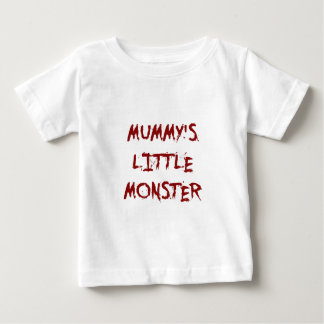 Red Funny Mummy's Little Monster Halloween T-Shirt