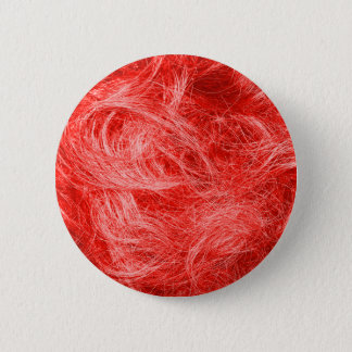 Red Fur 6 Cm Round Badge