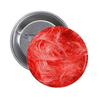Red Fur 6 Cm Round Badge