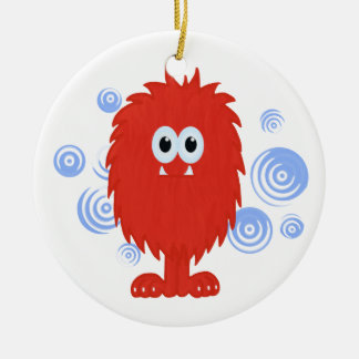 Red Furry Monster & Ornament