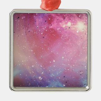 Red Galaxy Christmas Ornament