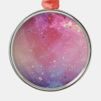 Red Galaxy Silver-Colored Round Decoration