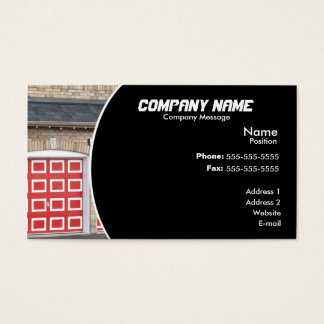 Red Garage Door Business Card