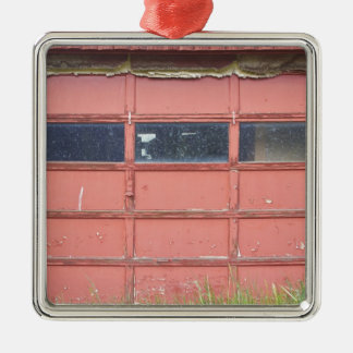 Red Garage Door Christmas Ornament