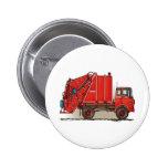 Red Garbage Truck Pin