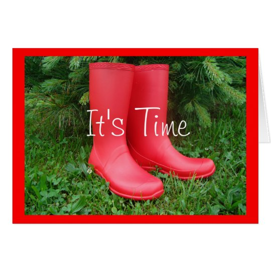 Red Garden Boots any occasion card