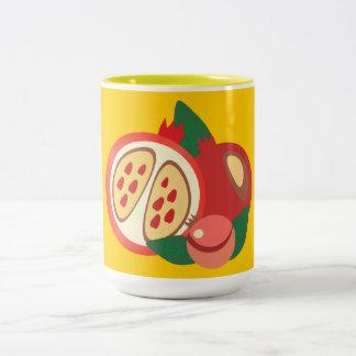 red garnet Two-Tone coffee mug