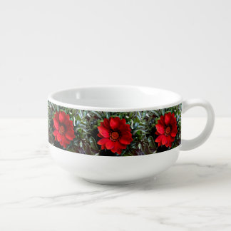 Red Gazania Flower Soup Mug