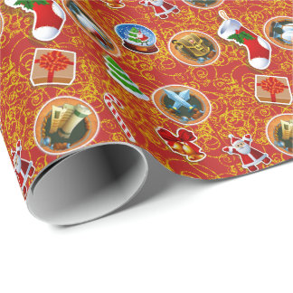 Red Geek Christmas Wrapping Paper