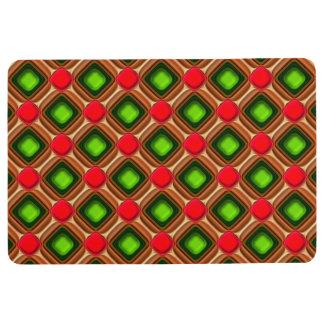 Red Gem Pattern Floor Mat