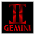 Red Gemini Horoscope Symbol Poster