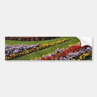 Red General garden flowers Bumper Sticker