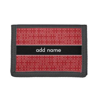 Red Geometric Building Block Pattern Wallets