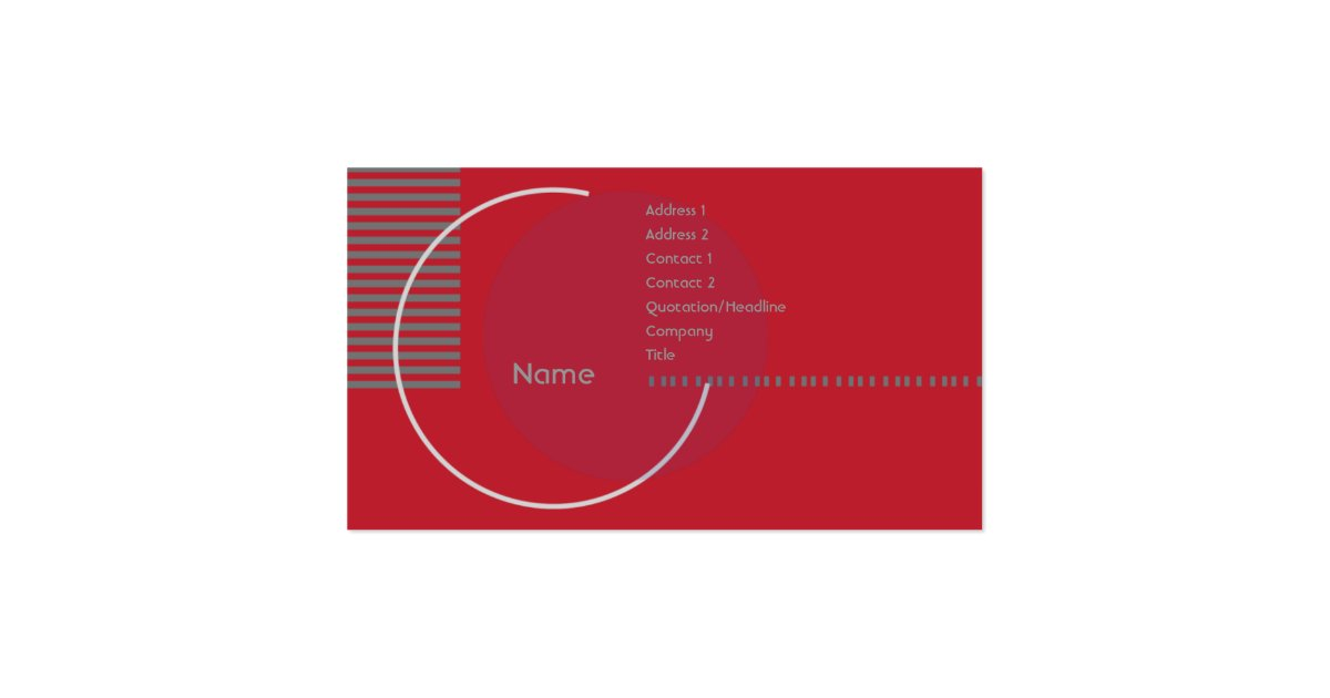 Red Geometric Circle - Business Pack Of Standard Business ...
