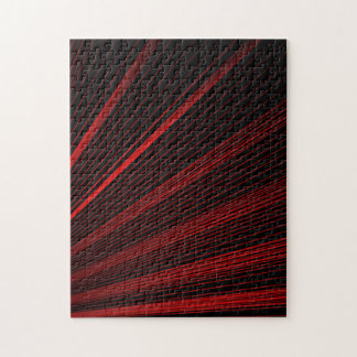 Red Geometric Lines Abstract Art, Jigsaw Puzzle
