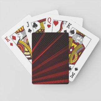 Red Geometric Lines Abstract Art, Playing Cards