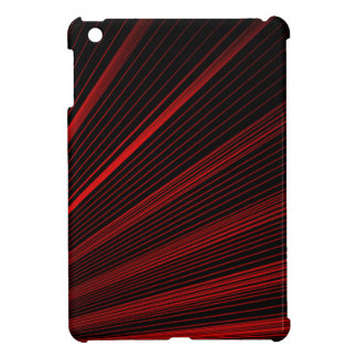 Red Geometric Lines On Black, iPad Mini Case