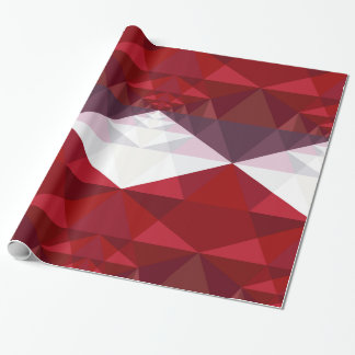 Red Geometric Pattern Wrapping Paper