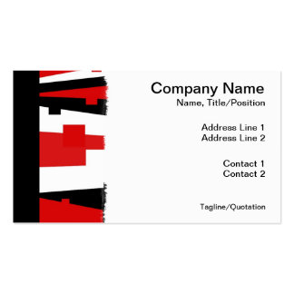 Red Geometric Striped Pack Of Standard Business Cards