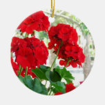 Red Geraniums Flower Ornament