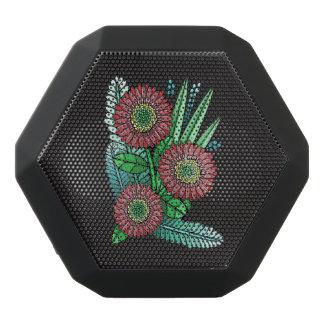 Red Gerber Daisy Black Bluetooth Speaker